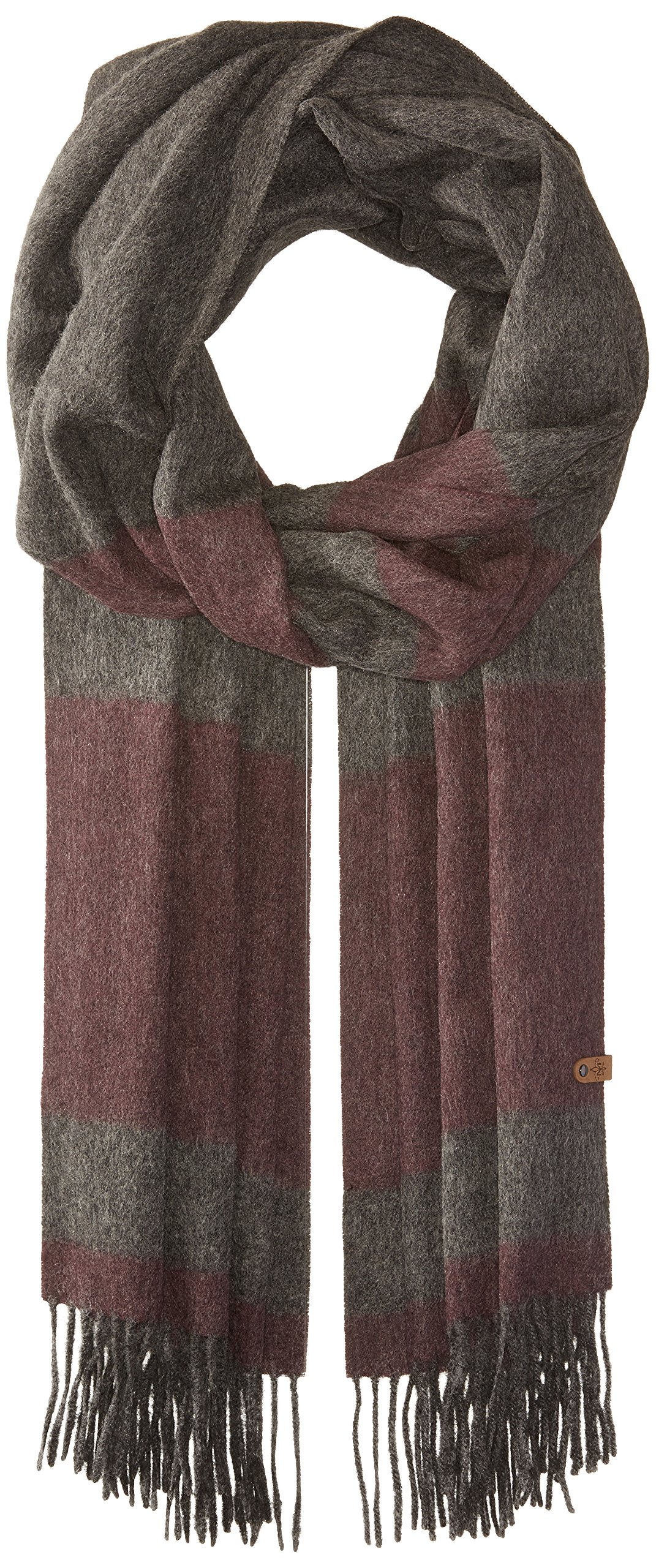 Mackage Women's Lazio Scarf, charcoal/merlot, One Size