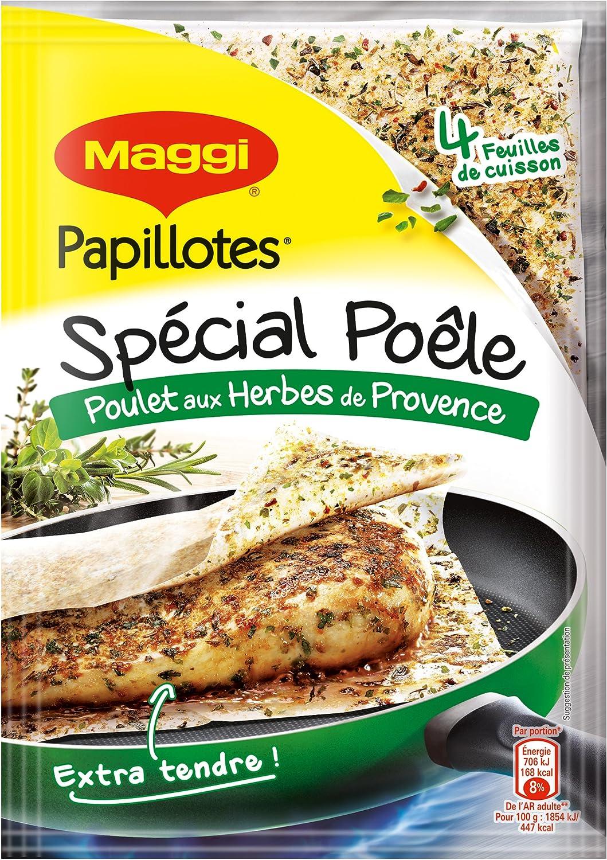 maggi papillotes special poele poulet herbes de provence 4 sachet 23 4g lot de 9