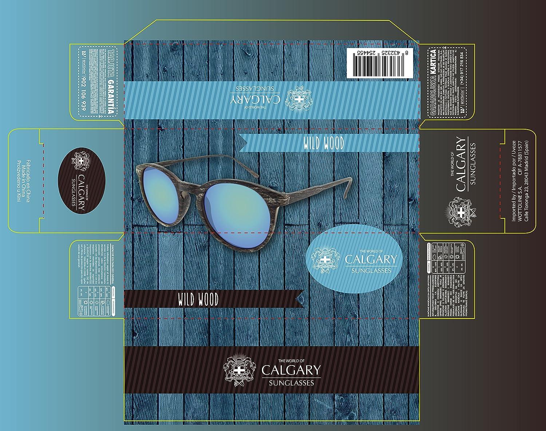 Gafas de sol efecto madera oscuras- certificado CE UV400 y ...