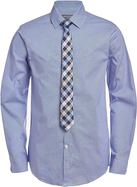 Van Heusen - Conjunto de camisa y corbata de manga larga para niño - - 6/7 XS: Amazon.es: Ropa y accesorios
