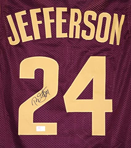 9f08d7a743b8 Richard Jefferson Cleveland Cavaliers Signed Autographed Wine  24 Cavs  Jersey Witnessed COA