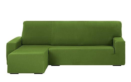 Martina Home Tunez Funda Sofá para Chaise Longue Diseño Moderno, Tela, Verde, 240 a 280 cm