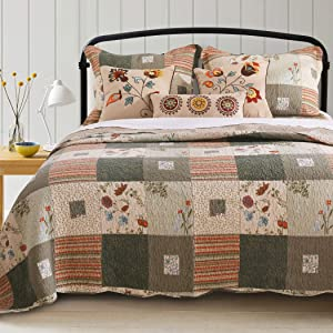 Greenland Home Sedona Quilt Set, 5-Piece King/Cal King, Gray