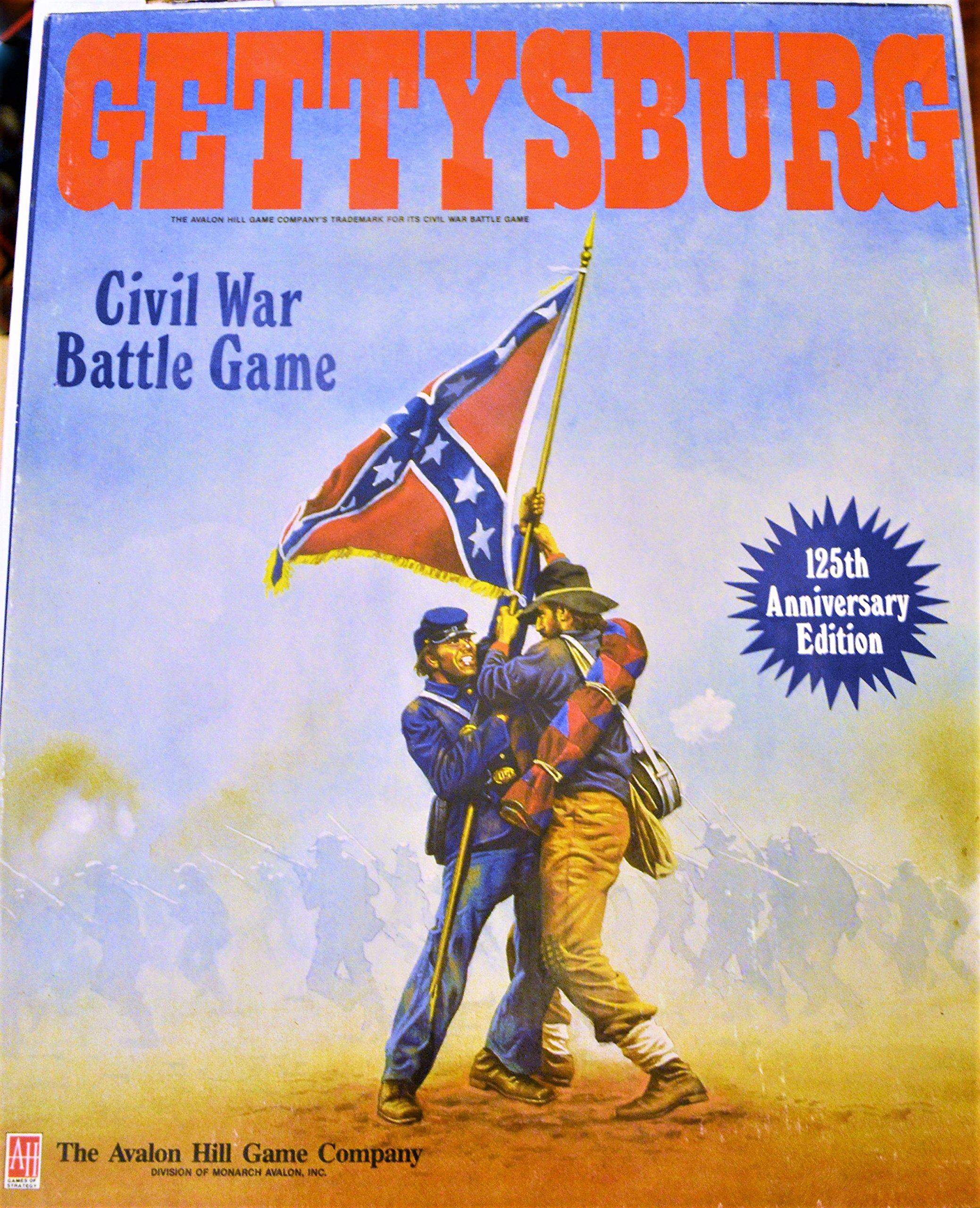 Gettysburg Civil War Battle Game 125th Anniversary Edition by AH Avalon Hill