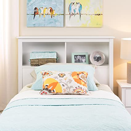 Prepac Monterey White Twin Storage Headboard
