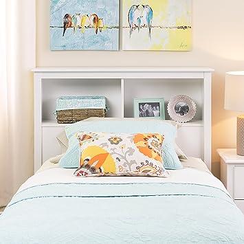 Amazon.com - Prepac Monterey White Twin Storage Headboard - Twin Bed ...