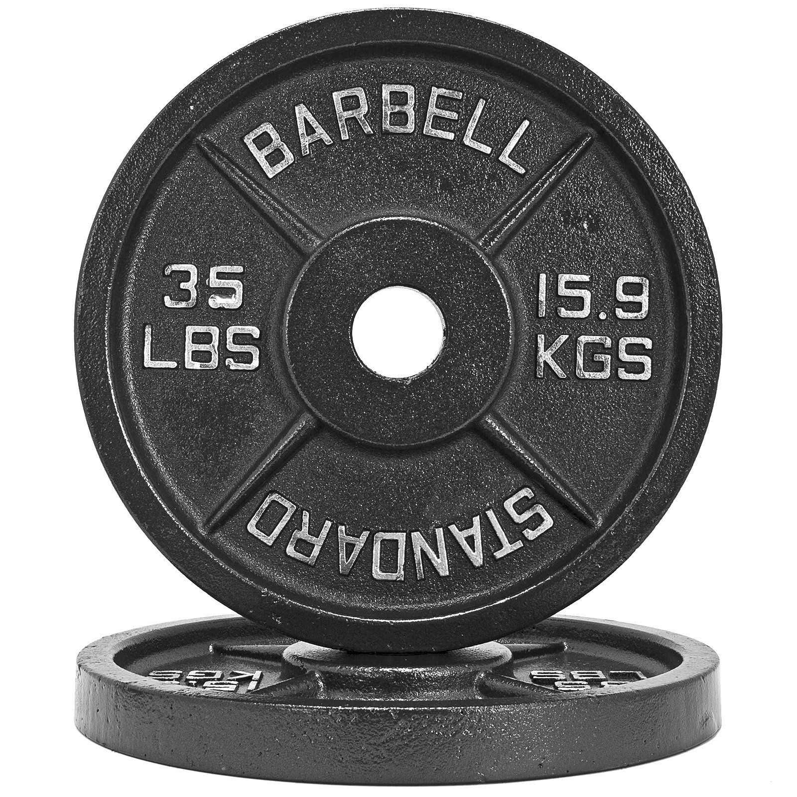 Fringe Sport 1.25lb - 45lb Iron Weight Plate Pairs/Weightlifting, Powerlifting, Other Strength Training Equipment (35)