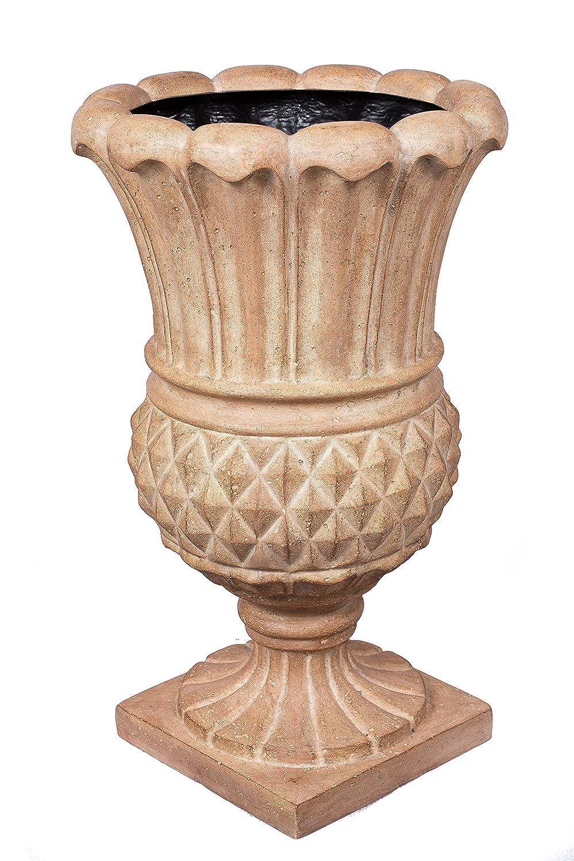 BirdRock Garden Pineapple Urn - Aged Ivory | Indoor Outdoor Planter Urn