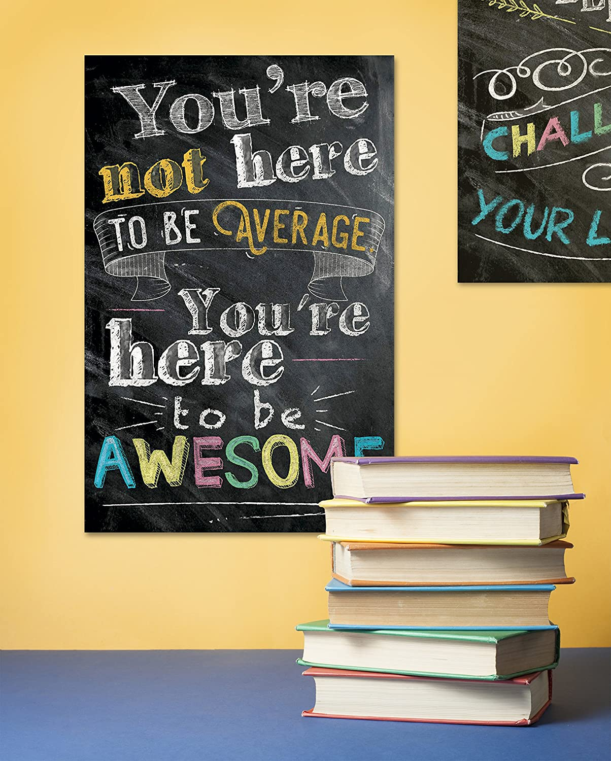 Amazon.com: Motivational Inspirational Wall Art Classroom Posters ...