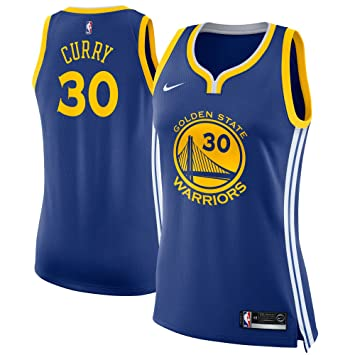 Nike GSW W Nk Swgmn JSY Road Camiseta 2ª Equipación Golden State Warriors de Baloncesto, Mujer, Azul (Rush Blue/Blanco / Amarillo), XS: Amazon.es: Deportes ...