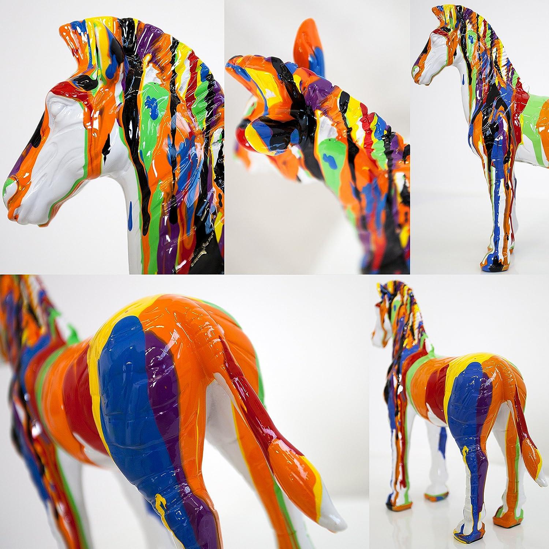 CAGÜ - Figura de Pop Art caballo [Stallion I] Multicolor de piedra ...