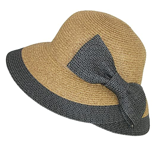 f430060127e Jeanne Simmons Women s Overlapping Split Brim Bucket Hat with Bow at Back  at Amazon Women s Clothing store