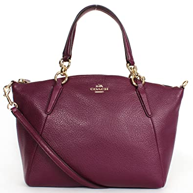 fcc830f929cc Amazon.com  SMALL KELSEY SATCHEL IN PEBBLE LEATHER (COACH f36675 ...