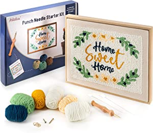 """Artistica Punch Needle Kit with Instructions - Starter Embroidery Kit - Rug Hook Needle Pointing Kit (15"""" x 11"""")"""