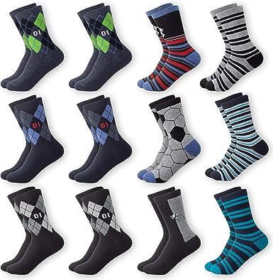 MC.TAM® - Calcetines para niña, multicolor, 12 pares, 90% algodón, certificado Öko-Tex Standard 100 12 pares de calcetines para niño 2 39-42: Amazon.es: Ropa y accesorios