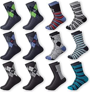 MC.TAM® Calcetines de Colores Medias Para Niños 12 Pares 90% Algodón Oeko Tex® Standard 100, 31-34, 12 pares de medias para niños