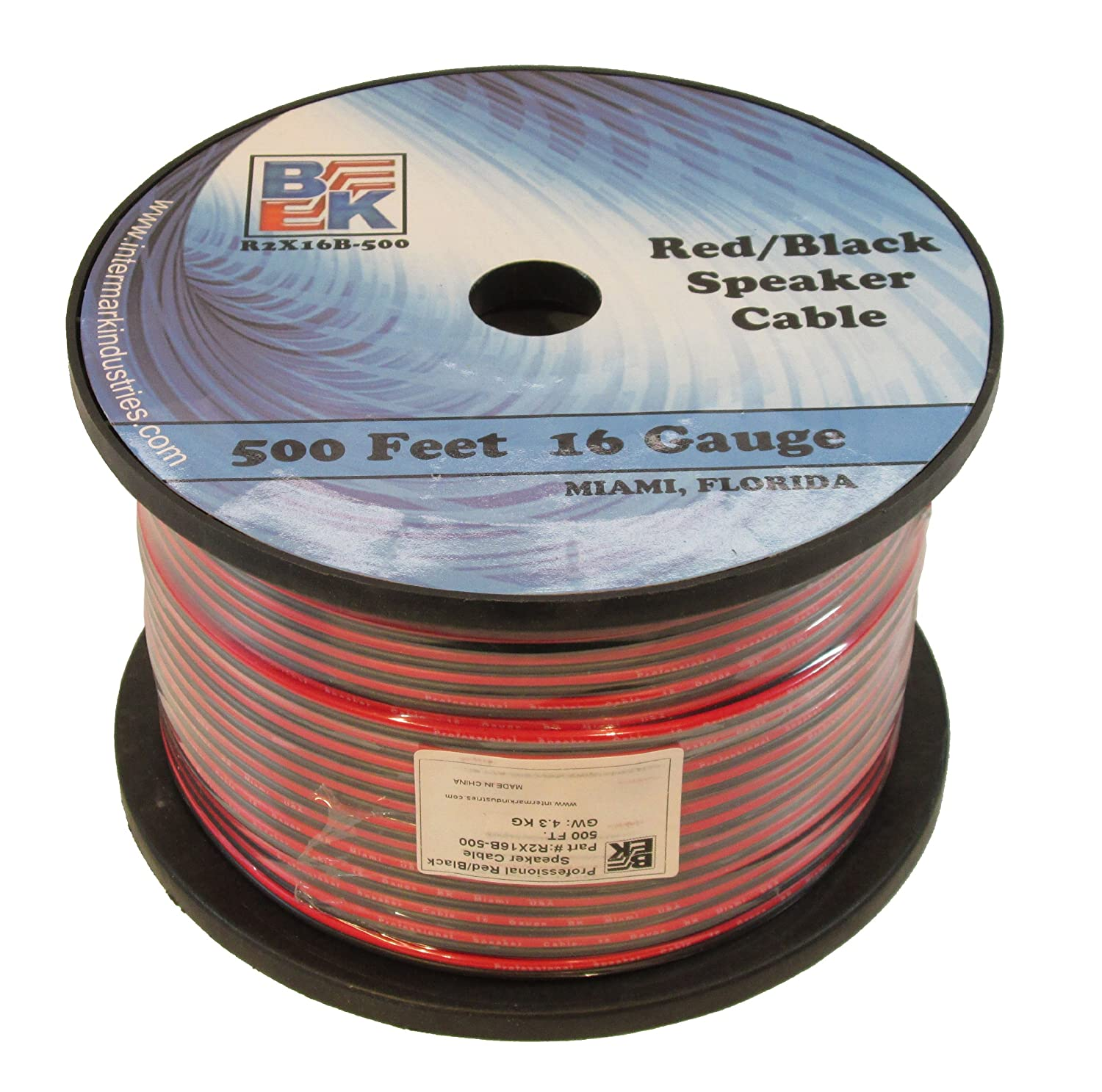 Blast King IR2X16B 16 Gauge Speaker Wire, 500-Feet BlastKing IR2X16B-500