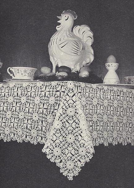Amazon Vintage Crochet Pattern To Make Tablecloth Fancy Motif
