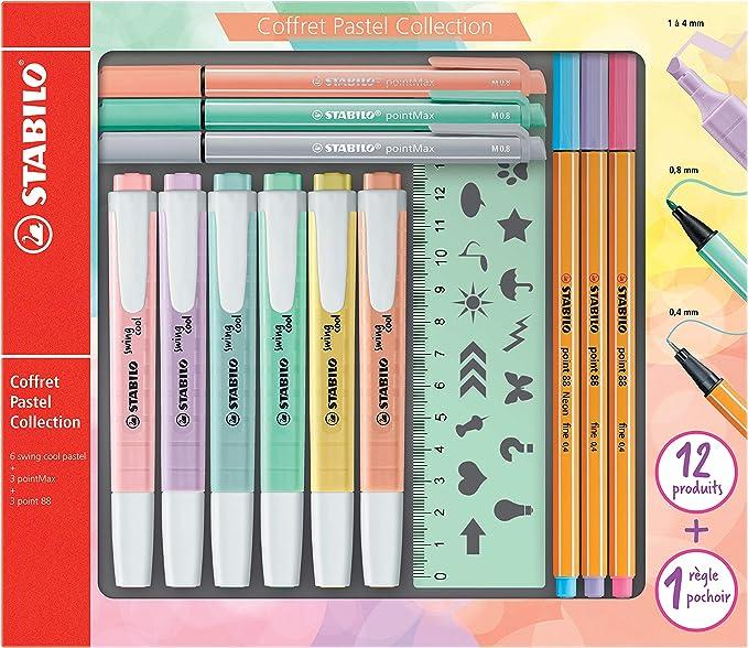 Stabilo f52064 Pastel Collection – Coffret combinada (13 piezas: 6 ...