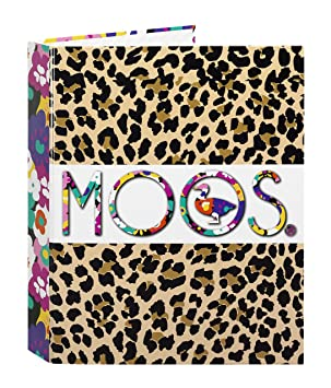 MOOS Carpeta anillas con lomo ancho, diseño Animal-Flower (Safta 511518657): Amazon.es: Juguetes y juegos