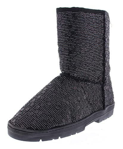 Women's Effie Metallic Sparkle Sequin Pull On Cold Weather Boot