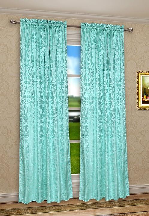 Marvelous Pack Of 2, CaliTime Rod Pocket Window Curtains Panels For Bedroom, Damask  Vintage Floral