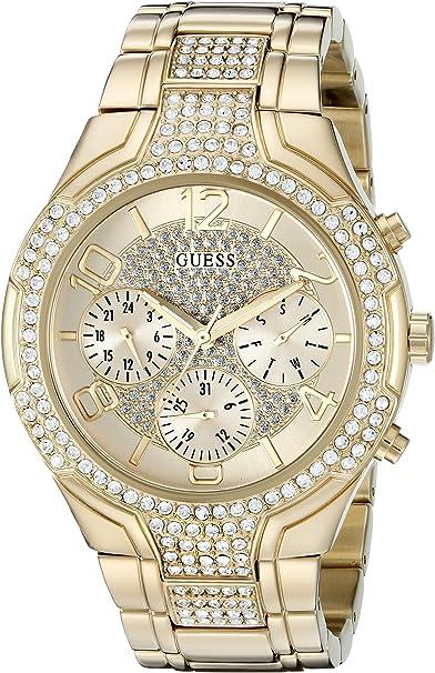 GUESS Gold-Tone Glitzy Sport Dress Watch