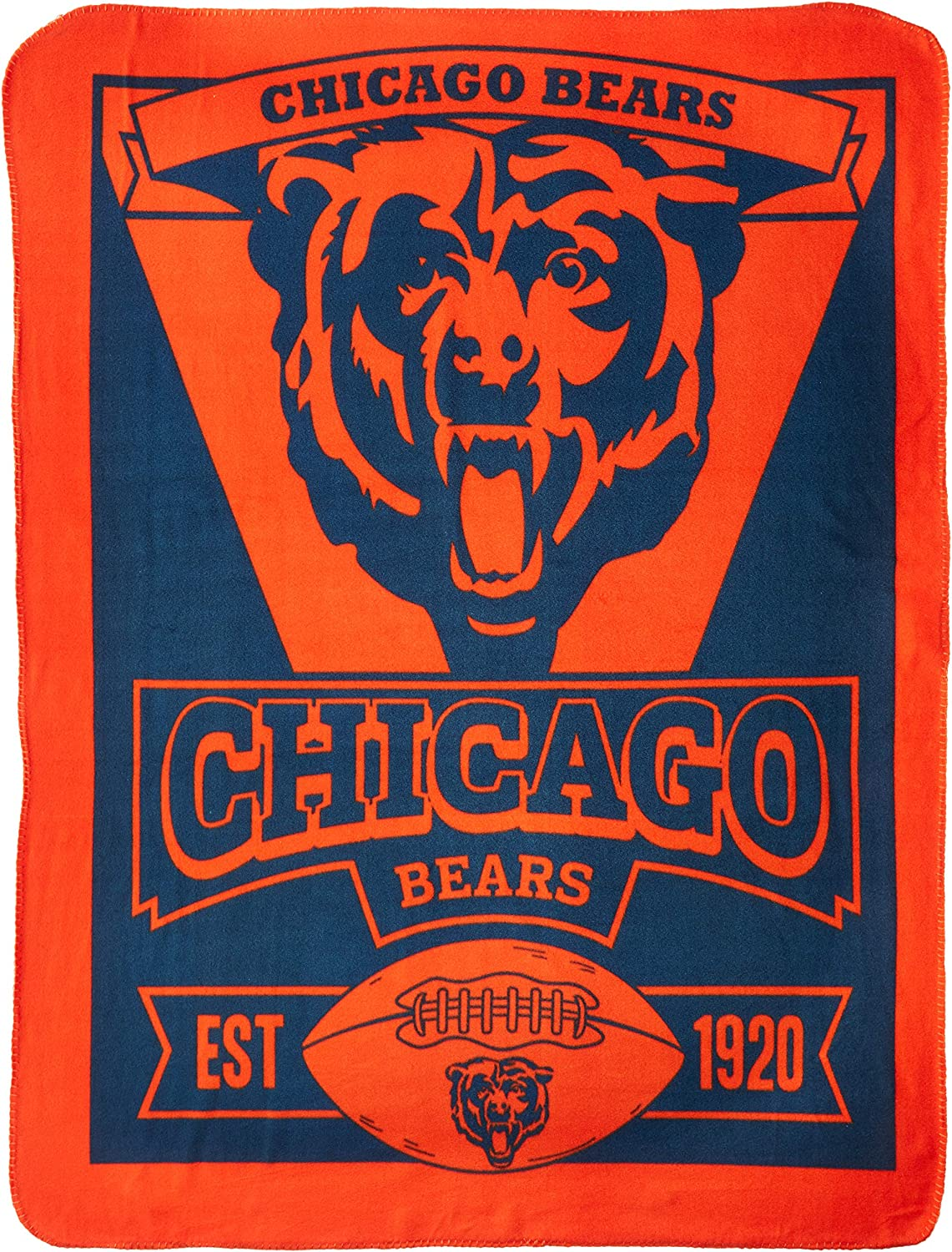 The Northwest Company NFL Chicago Bears Printed Fleece Throw, 50 x 60-inches