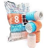 Kitsch Pro Ceramic Hair Rollers, Self Grip Thermal Hair Rollers, Hair Curlers, 8 Pack