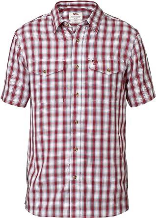 FJALLRAVEN Abisko Cool Shirt SS M Camisa, Hombre, Red, S: Amazon.es: Ropa y accesorios
