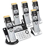 VTech IS8151-5 Super Long Range 5 Handset DECT 6.0 Cordless Phone for Home with Answering Machine, 2300 ft Range, Call…