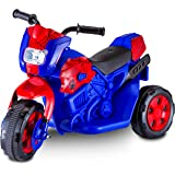 Kid Trax Toddler Marvel Spider-Man Electric Motorcycle Ride On Toy, Kids 1.5-3 Years Old, 6 Volt Battery and Charger Included
