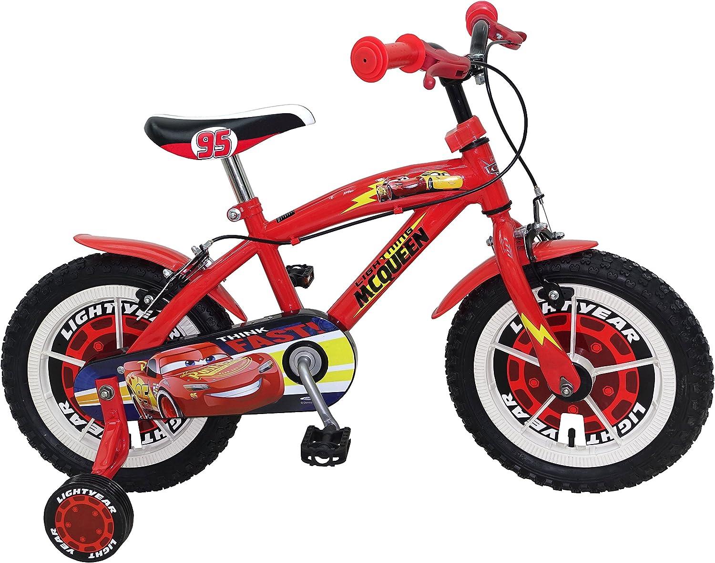 STAMP SAS Cars Bike 14' Bush + Nylon Rims + Caliper Brakes, Color Red, 4-6 (Stamps SAS C893020NBA)