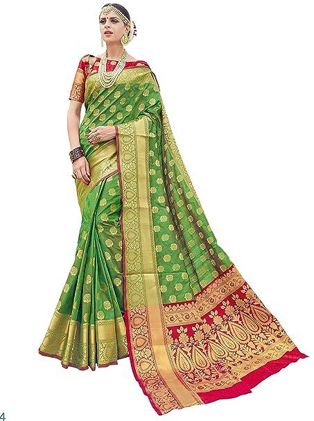 170c0a0f0a24b EthnicJunction Women s Banarasi Silk Saree with Blouse Piece (EJ1178-7974M