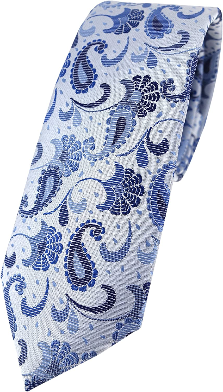 TigerTie - Corbata - Cachemir - para hombre Blau Silberblau Silber ...