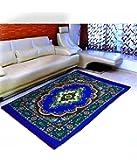 "Warmland Premium Polyester Carpet - 60""x84"", Blue"
