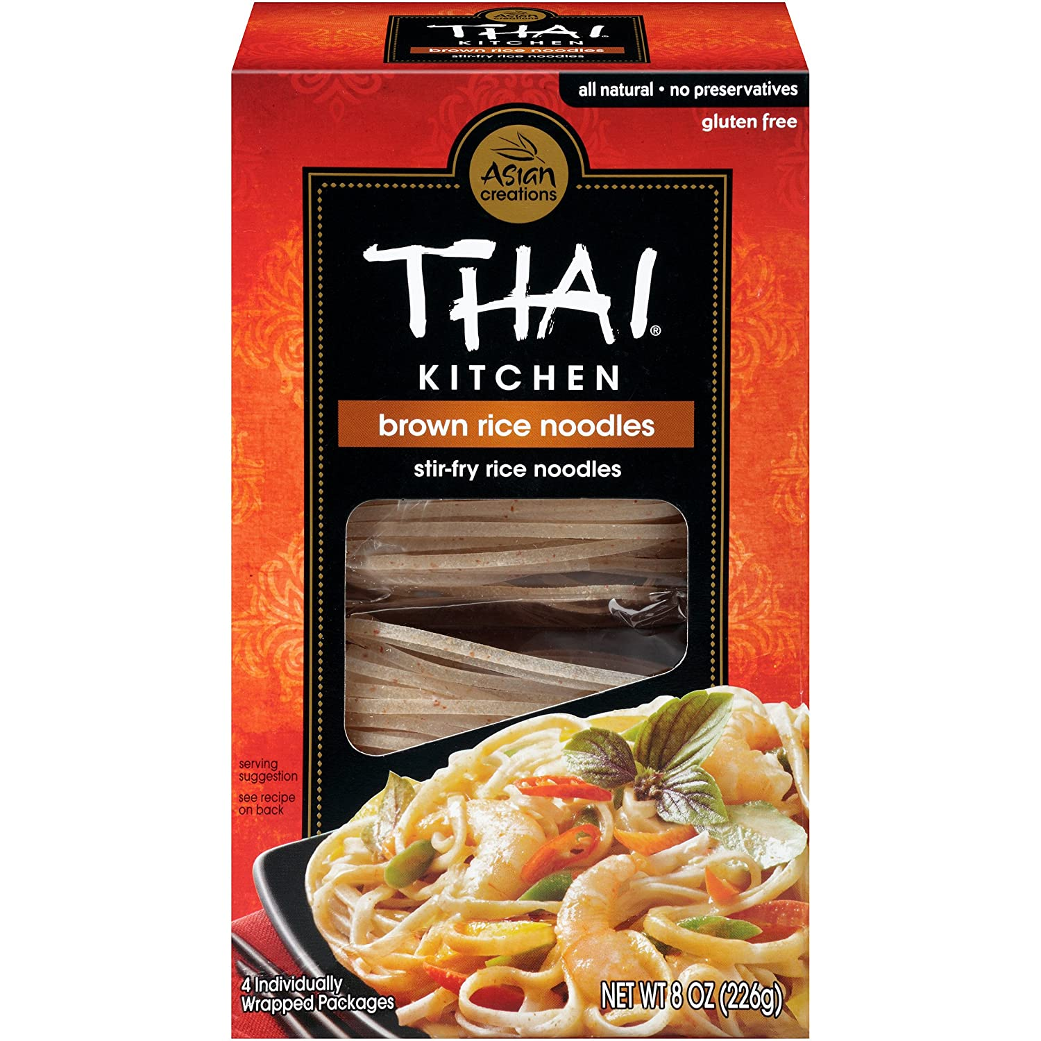 thai kitchen gluten free brown rice noodles 8 oz