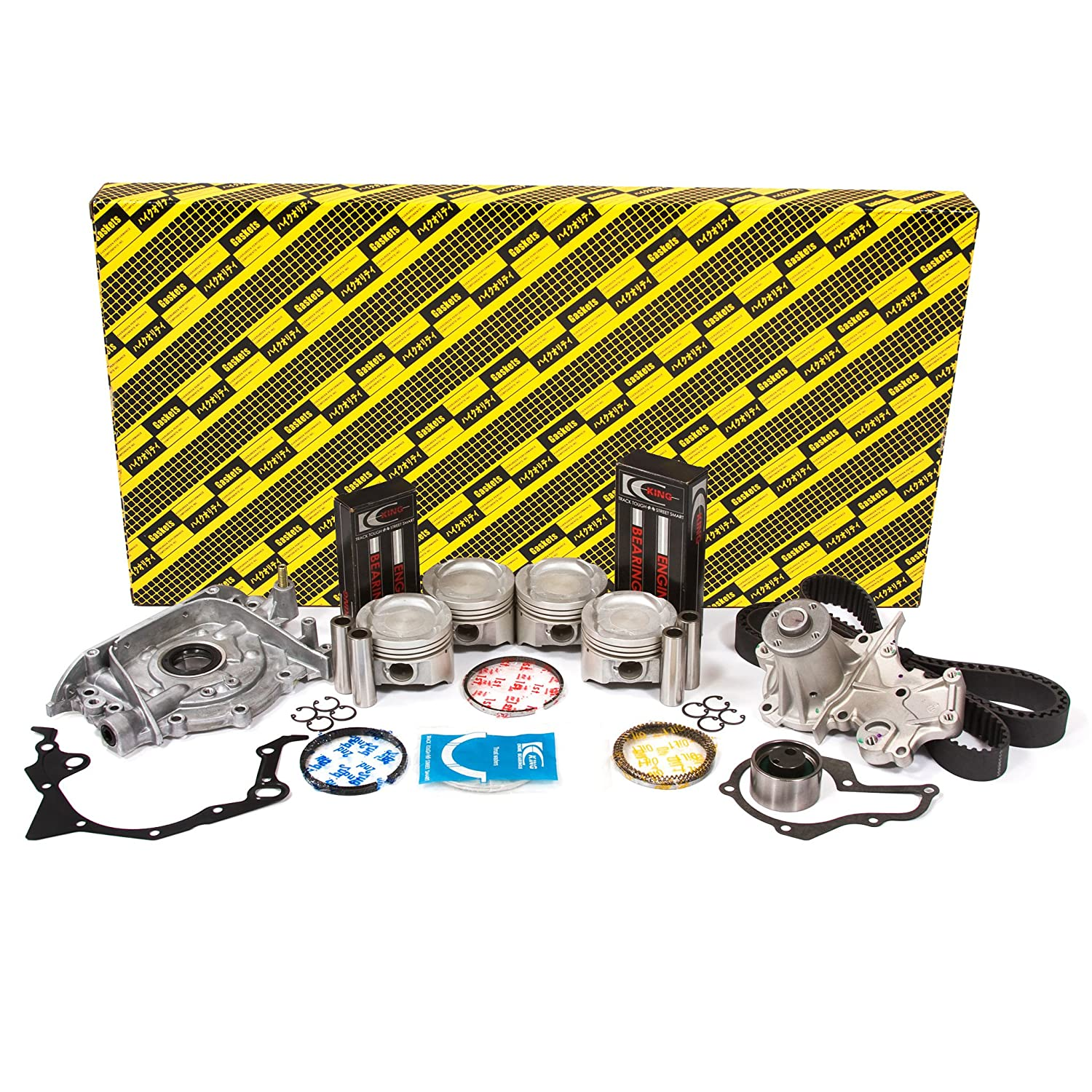Evergreen Ok8008a 0 2 92 95 Suzuki Sidekick 16l Sohc 1990 Engine Oil 16v G16kv Rebuild Kit Automotive