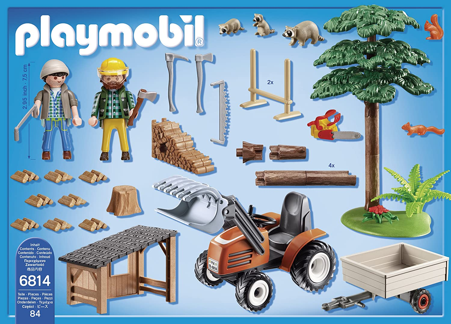 Playmobil 6814 Country Lumber Yard with Tractor: Amazon.co.uk: Toys & Games