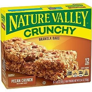 Nature Valley Granola Bars, Chrunchy, Pecan Crunch, 8.94 oz.
