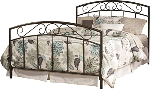 Hillsdale Furniture Wendell Bed Set with Rails, Queen, Copper Pebble
