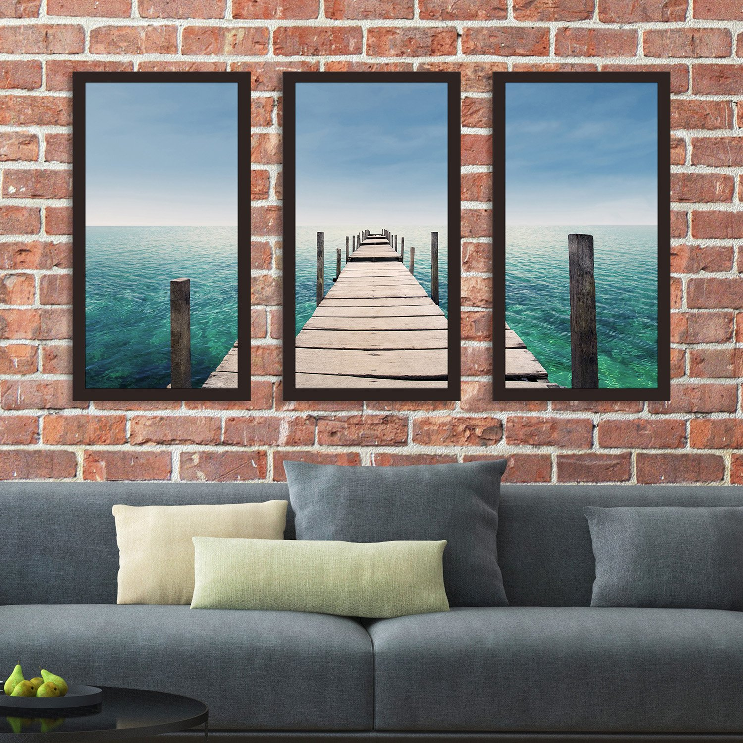Picture Perfect Internationalby The Dock Framed Plexiglass Wall Art Set of 3