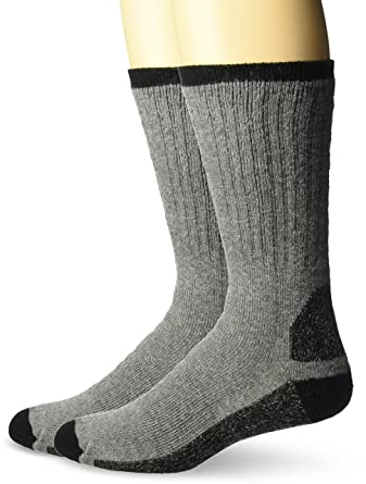 cc28e73c54b Wigwam Men s At Work Double Duty 2-Pack Crew Length Work Sock at Amazon  Men s Clothing store  Casual Socks