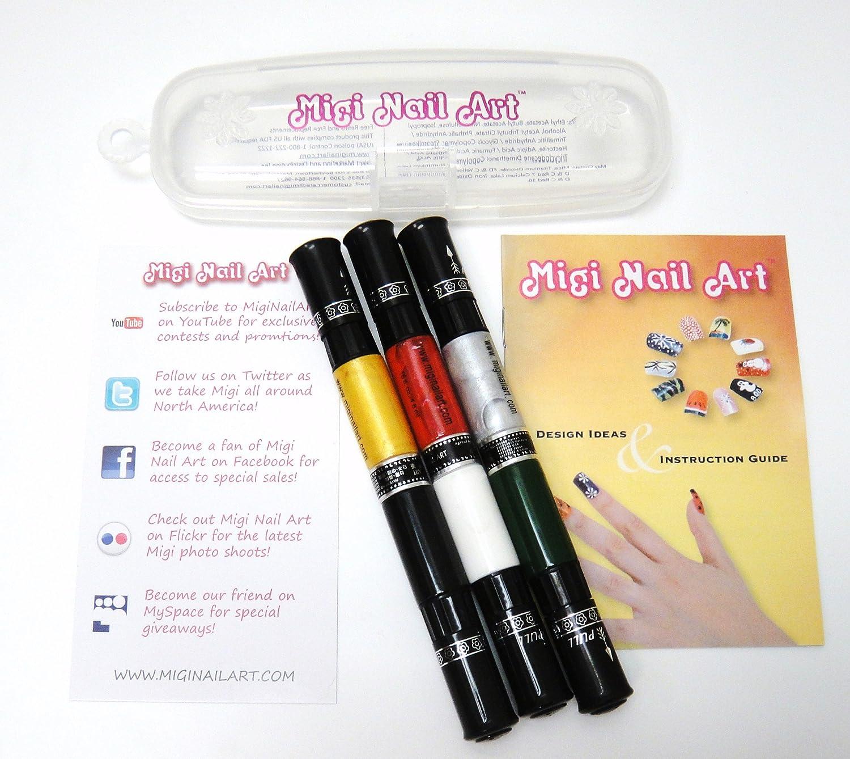 Amazon Migi Nail Metallica Nail Art Pen Kit New 6 Color