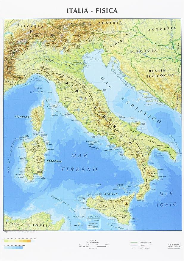 Cartina Italia Politica Formato A4.Cwr Cartina Geografica Italia Fisica E Politica Formato A4 Confezione Da 10 Amazon It Cancelleria E Prodotti Per Ufficio