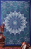 JHC's Origional Blue Star Hippie Tapestry, Hippy Mandala Bohemian Tapestries, Indian Dorm Decor, Psychedelic Tapestry Wall Hanging Ethnic Decorative