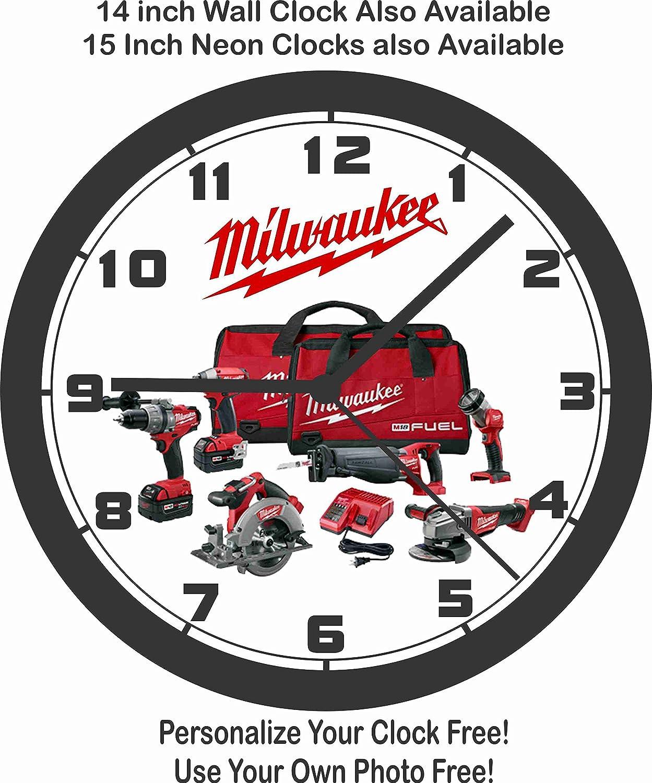 Amazon Milwaukee Power Tools Wall Clock Free Usa Ship Home