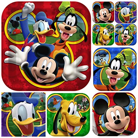 Amazon 48 Pc Mickey Mouse Clubhouse Birthday Party Plate Supplies