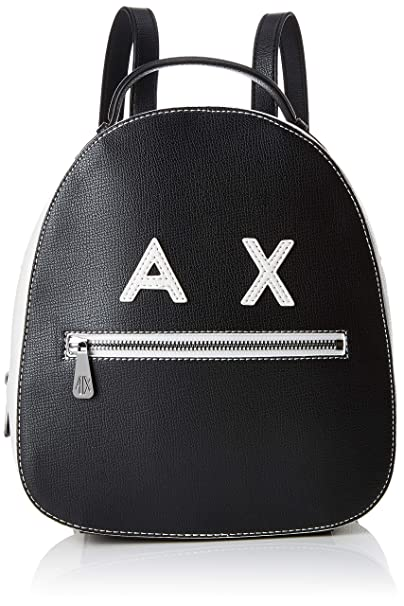 df90be0e6a ARMANI EXCHANGE Smile Logo Backpack - Zaini Donna, Nero (Black/White ...
