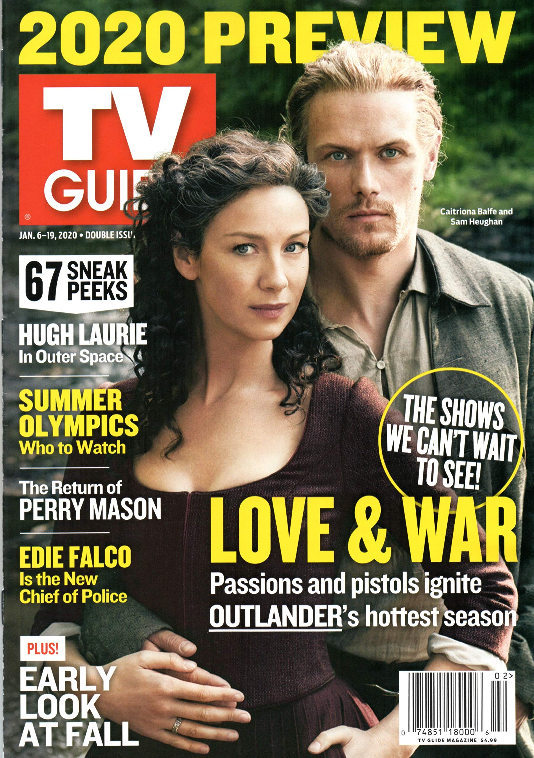 Tv Guide Magazine January 6 19 2020 Preview Issue Sam Heughan